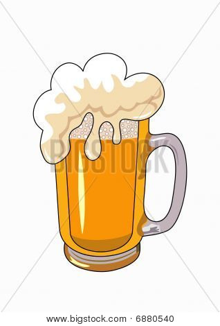 vector beer mug isolated on a white