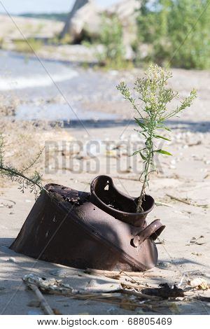 Barrel In The Sand