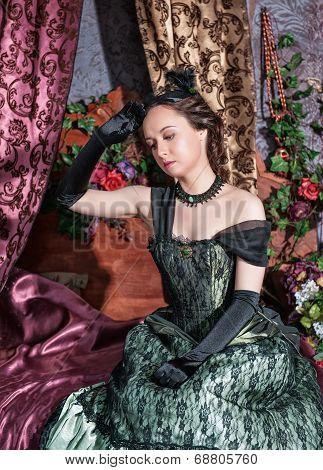 Beautiful Woman In Medieval Dress