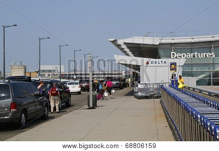 Delta Airline Terminal 4 at John F Kennedy International Airport in New York