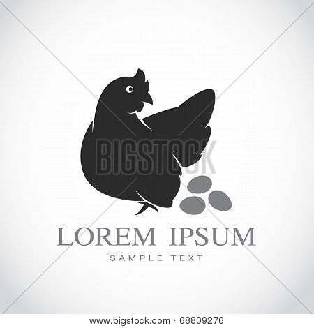Vector Image Of An Hen And Eggs