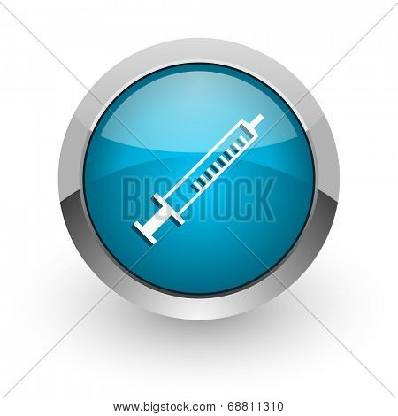 medicine blue glossy web icon