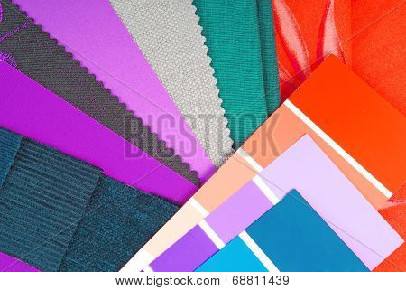color design cloth selection for interior