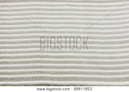 Background Pattern Of Raked White Sand