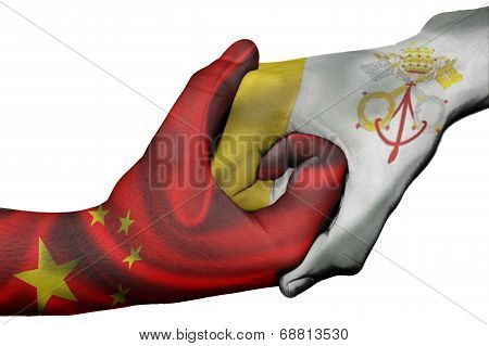 Handshake Between China And Vatican City