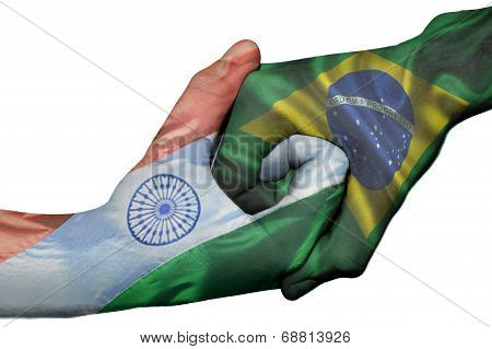 Handshake Between India And Brazil