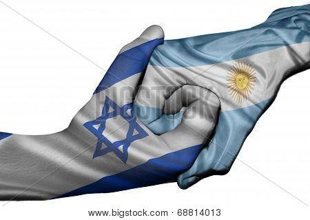 Handshake Between Israel And Argentina
