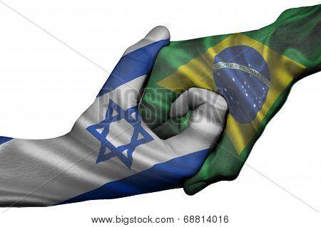 Handshake Between Israel And Brazil