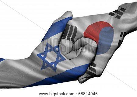 Handshake Between Israel And South Korea
