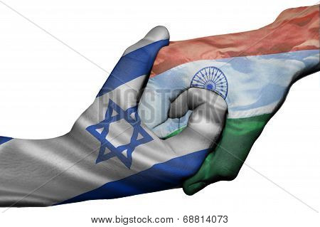 Handshake Between Israel And India