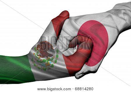 Handshake Between Mexico And Japan