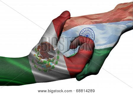 Handshake Between Mexico And India