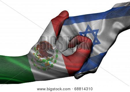 Handshake Between Mexico And Israel