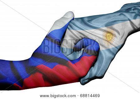 Handshake Between Russia And Argentina