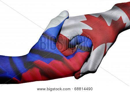 Handshake Between Russia And Canada