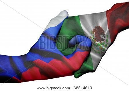 Handshake Between Russia And Mexico
