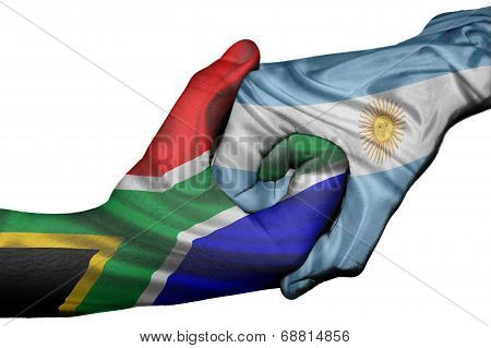 Handshake Between South Africa And Argentina