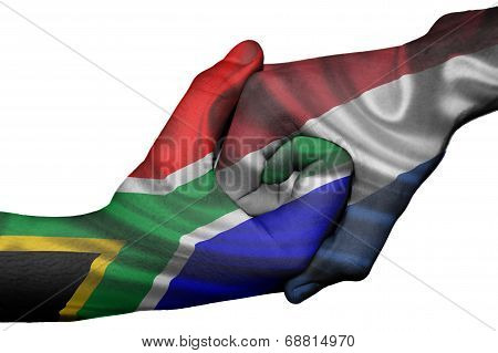 Handshake Between South Africa And Netherlands