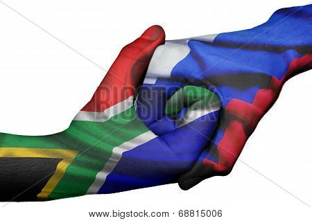 Handshake Between South Africa And Russia
