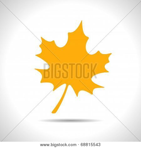 Vector maple leaf icon. Eps10