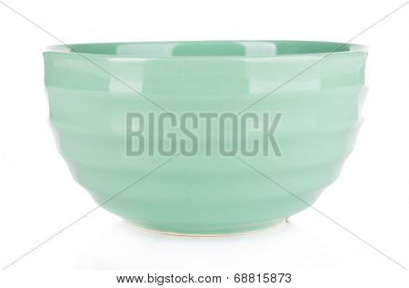 Mint bowl isolated on white