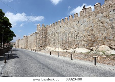 City Walls Of Avila, Spain