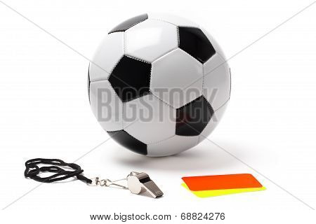 Referee Whistle Cards And Ball