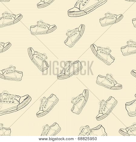 Seamless texture with sneakers