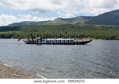 Gondola steam boat on Coniston Water
