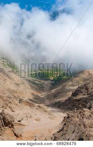 View On Mountain Road From Mount Tahtali