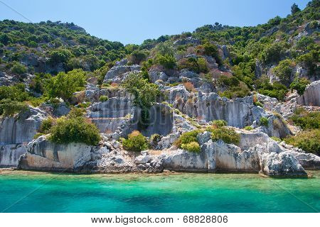 Sunken Lycian City On The Kekova Island