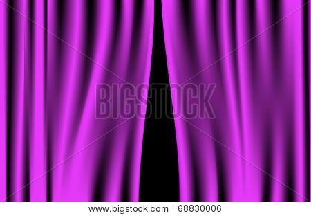 Luxury creases purple curtain vector