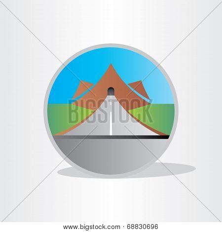 Highway Tunnel In Mountain Design