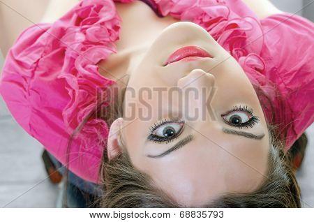Girl Looking Backwards