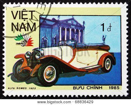 Postage Stamp Vietnam 1985 Alfa Romeo, 1922