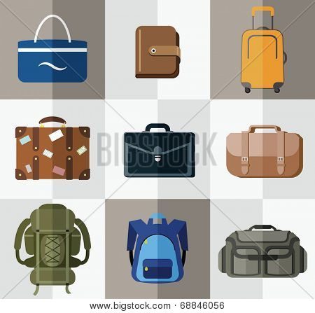 Bags, suitcases, backpacks. Bags for travel, business, school, hiking and beach.