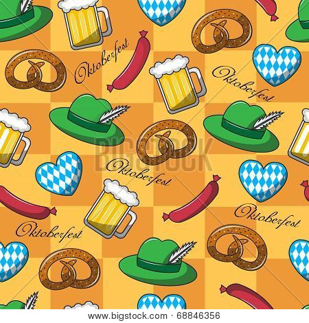 seamless pattern on Oktoberfest
