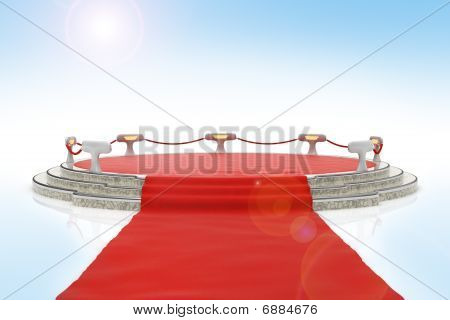 Red Carpet Onto Stage