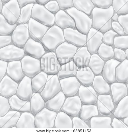 Seamless Pattern Of Stones