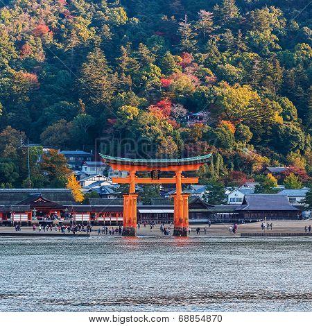 Great floating gate (O-Torii) in Miyajima, Hiroshima