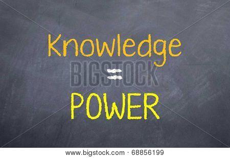 Knowledge = Power