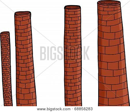Old Brick Chimneys
