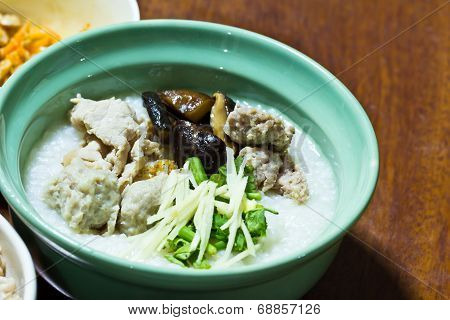 Traditional Chinese Porridge Rice Gruel