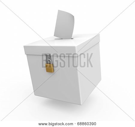 Ballot Box Isolated