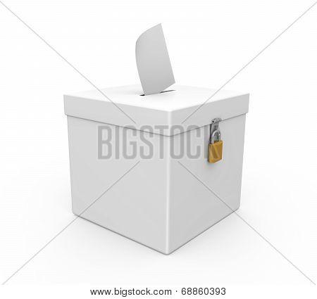 Ballot Box Isolated