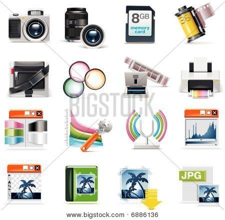 Vector conjunto de iconos de fotografía