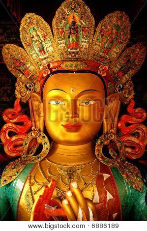Detail of Buddha head