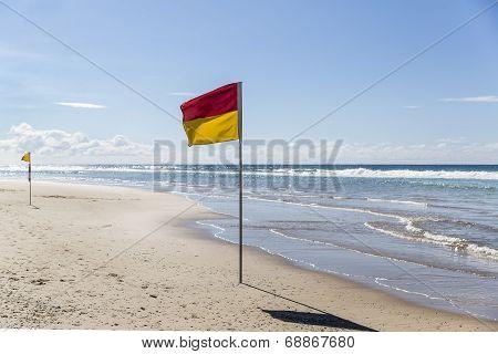 Gold Coast beach flags