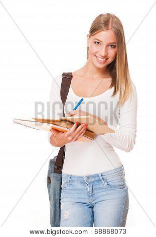 Beautiful Blond Student.