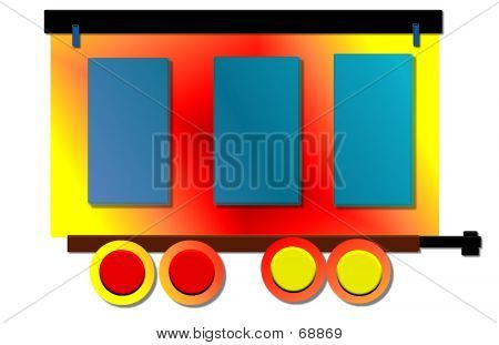 Carro de trem multi-coloridas